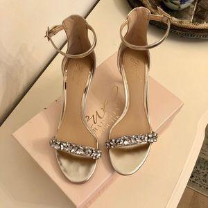Badgely Mischka Gold Heels
